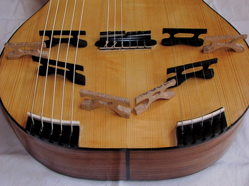 Test of the position and heights of the bass and treble bridges