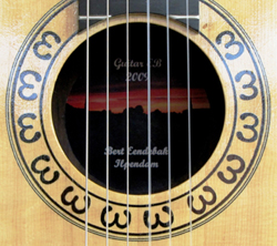 Rosette of the EB-guitar 2009